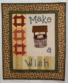 Make a Wish Quilted Wall Hanging by Springwaterdesigns on Etsy, $60.00