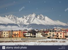 Stock Photo - View of Poprad. Mount Everest, Stock Photos, Mountains, Country, Travel, Collections, Image, Rural Area, Viajes