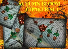 Autumn Bloom Choker Set by ArtbyStarlaMoore on Etsy, $30.00