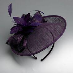 Purple flower & bow fascinator - Fascinators - Hats & fascinators - Women -