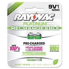Platinum Rechargeable 9V NiMH Battery