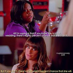 "#Glee 6x08 ""A Wedding"" - Mercedes and Rachel"