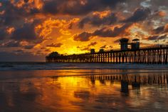 Sunset at the Oceanside Pier - February 2, 2014 by Rich Cruse on 500px