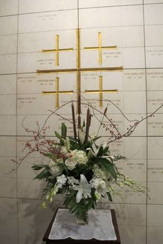 All Saints Day columbarium flowers