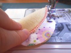 DIY cotton rounds with flannel scraps.