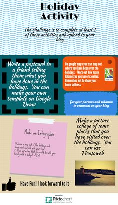 Communicating Confident Creative Collaborative C-Learners: Holiday Activity