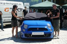 G-Tech Turns the Fiat 500 into a Chop-Top Baby Blue Sportster - Carscoop
