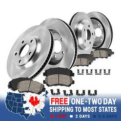 POWERSPORT BLACK DRILL//SLOT /& PADS-Lexus IS250 2006-2008 FRONT Brake Rotors