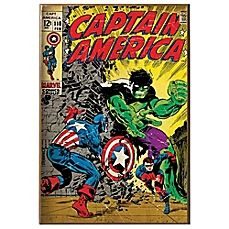 image of Captain America and Hulk Wall Décor Plaque
