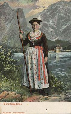 Brechtesgadnerin, Bayern, Deutschland, Postkarte, ca. 1900