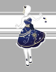 This one is a starry sky/night themed dress. I was asked to make a dress for Mochine-Nyans character with a night sky theme and a bit of oriental inspiration in it. I hope it looks okay! Art (c) Sc...