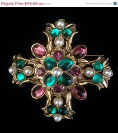 Gorgeous Byzantine Revival Maltese Cross by Vintageimagine on Etsy, $63.75