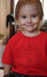 Lasten luomupuuvillainen Untamo t-paita. Children's Untamo t-shirt. Ecologically and ethically produced. Organic cotton.