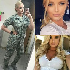 Here we share a new collection of ARMY WOMEN in and out of uniform. These are the 41 professional military women in & out of uniform looking so hot. Mädchen In Uniform, Female Army Soldier, Female Marines, Hot Girls, Military Girl, Military Women, Girls Uniforms, Professional Women, Gorgeous Women