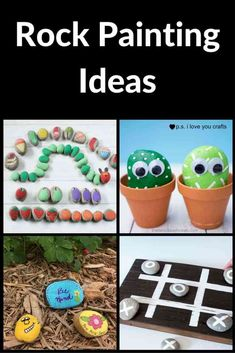 Rock Painting Ideas - Here are ideas for painting rocks that don't require any artistic ability. Have fun painting kindness rocks and rocks for hiding your community. Easy Crafts For Kids, Craft Activities For Kids, Art For Kids, Simple Crafts, Rock Crafts, Fun Crafts, Paper Crafts, Rock Painting Ideas Easy, Painting For Kids