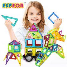 44 PCs Normal Size Magnetic Designer Construction Set Model & Building Toy Plastic Educational Magnetic Blocks Toys For Kids #Affiliate