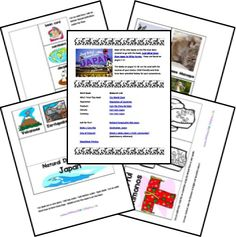 Japan Country Study & Lapbook