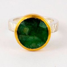 Green stone silver ring, Malachite solitaire ring Solitaire green gem ring