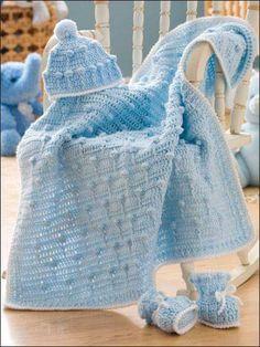 Galería: Increíble Colección de Mantas Tejidas | CTejidas [Crochet y Dos Agujas]