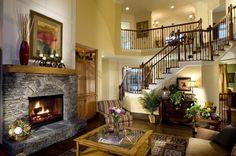 камин в интерьере гостиной - Пошук Google