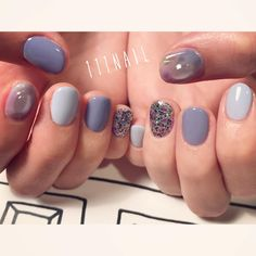 ▫️◽️▫️◽️⚪️✨ #nail#art#nailart#ネイル#ネイルアート #blue#glitter#magic#fantacy#cute#ショートネイル#nailsalon#ネイルサロン#表参道