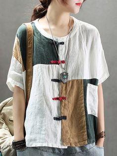 linen-cloth - Shop Affordable Designer linen-cloth for Women online StyleWe Cheap Linens, Womens Linen Clothing, Mode Chic, Linen Dresses, Sewing Clothes, Blouse Designs, Blouses For Women, Fashion Outfits, Linen Tops