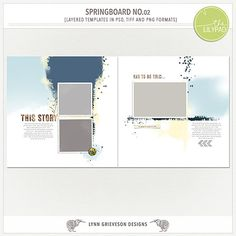 Springboard templates No.02 by Lynn Grieveson.  Available at the Lily Pad.