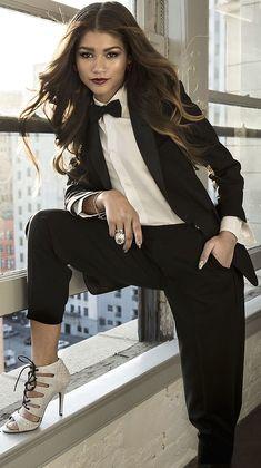 Zendaya Outfits, Zendaya Style, Prom Outfits, Classy Outfits, Zendaya Makeup, Zendaya Hair, Androgynous Fashion, Tomboy Fashion, Suit Fashion