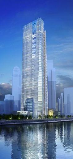 Bohai Bank Tower, Tianjin, China by RMJM :: 55 floors, height 270m