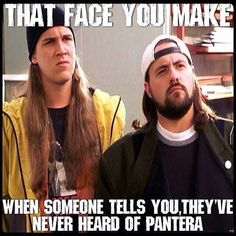 How are you allowed to live if you don't know Pantera! ... Is what I think to myself.