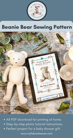 Selling Handmade Items, Etsy Handmade, Beanie Bears, Nursery Toys, Sewing Toys, Photo Tutorial, Sell On Etsy, Cool Gifts, Baby Shower Gifts