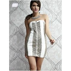 Women's Bodycon Backless Sequin Sexy Wrap Evening Bandeau Dresses
