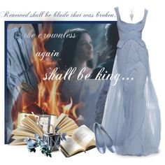 Shall Be Renewed by fromdistantshores on Polyvore featuring moda, L'Autre Chose, Rojo16, Howe, formal, cosplay, livtyler, Thelordoftherings and arwen