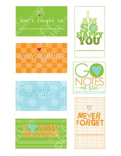 Love Notes for Boys @ http://www.etsy.com/listing/78981368/go-notes-love-notes-for-kids-boys-pack?ref=v1_other_2