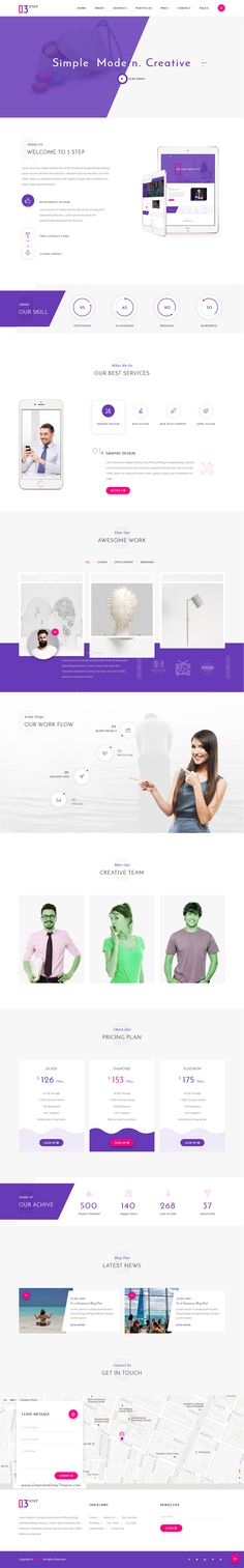 3 Step is a Clean and Modern HTML5 Material Design Creative #Template for Corporate Business, Corporate Portfolio, Creative #Agency, Personal Portfolio, Blog, and any Portfolio related Business #Website download now➯ https://themeforest.net/item/3-step-creative-corporate-business-and-personal-portfolio-template/16885819?ref=Datasata