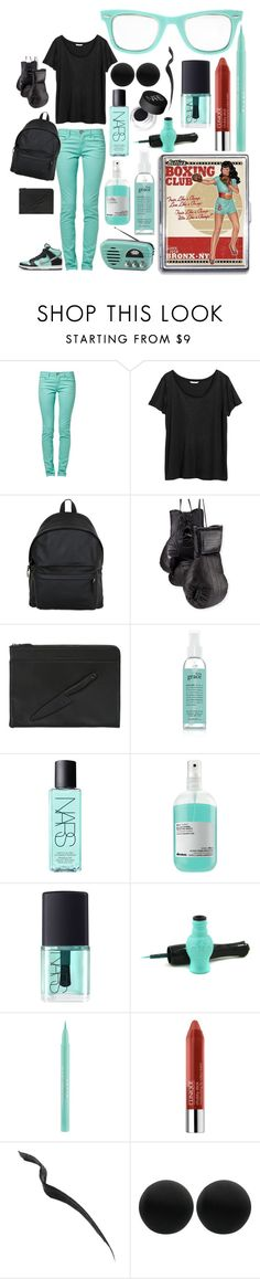 """Boxing Club!"" by carolina-c ❤ liked on Polyvore featuring Bettie Page, H&M, Eastpak, NIKE, Elisabeth Weinstock, Vlieger & Vandam, philosophy, NARS Cosmetics, Davines and Anna Sui"