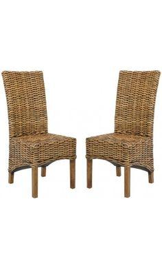 Set de 2 sillas en madera de mango y rat n pembrooke - Muebles de tailandia ...