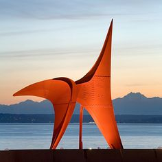 Booked the Olympic Sculpture Park for the Wedding! May be right under this piece!