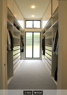 Floor to Ceiling Millwork - between the closets