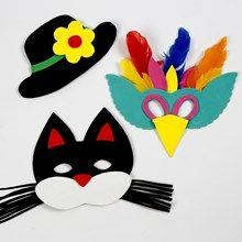 Inspiration til flotte gør-det-selv masker, som kan bruges både til udklædningen, fastelavnsriset eller kattetønden #fastelavn #diy #tips