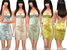 ekinege's Snake Print Sequin Mini Dress
