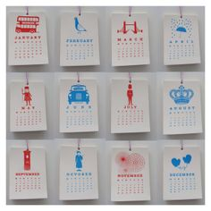 The 2014 LONDON Calendar by IlovePaperHeart on Etsy