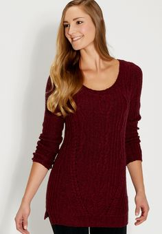 cable knit tunic swe