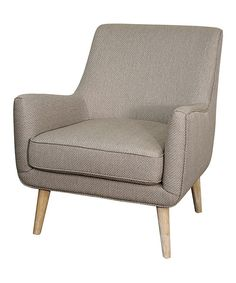 Look at this Zoe Taupe Hayseed Arm Chair on #zulily today!