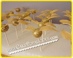 golden snitch cakeballs