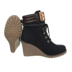 Damen Schuhe Keilabsatz Plateau Schnürsenkel Keilstiefeletten Stiefeletten Keilabsatz/ Wedge: Amazon.de: Schuhe & Handtaschen