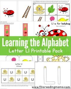 Learning the Alphabet - FREE Letter L Printable Pack - This Reading Mama