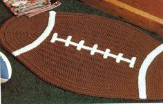 -FOOTBALL & BASKETBALL RUGS CROCHET PATTERN - Home Decor