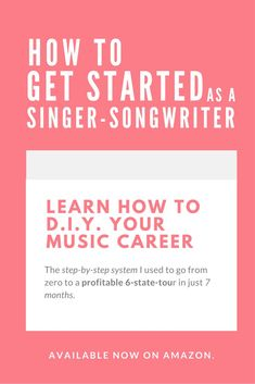 How To Get Started As A Singer-Songwriter e-book | Modern Songstress