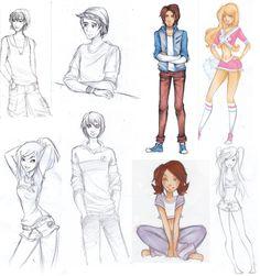 Disney high sketches part 1 by *Nina-D-Lux on deviantART